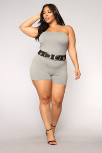 Buenos Aires Romper - Grey Angle 11