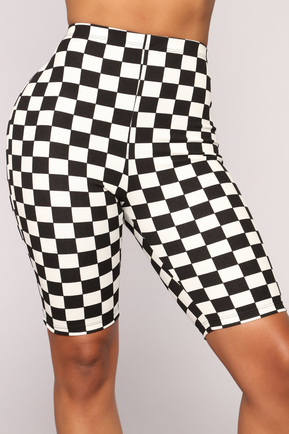 Danica Biker Shorts - Black/White