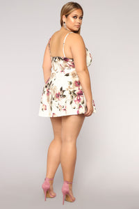 Roam Around Floral Romper - Ivory Angle 7