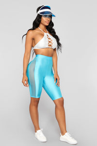 Layla Biker Shorts - Blue