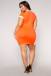 Ready Set Go Dress - Neon Orange