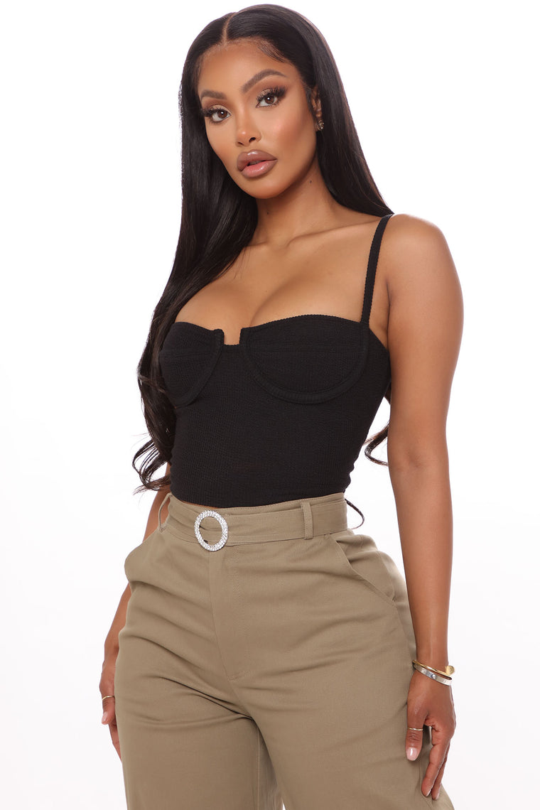 Sorry Don't Need You Cropped Top - Black