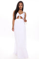 Staying True Cut Out Maxi Dress - White