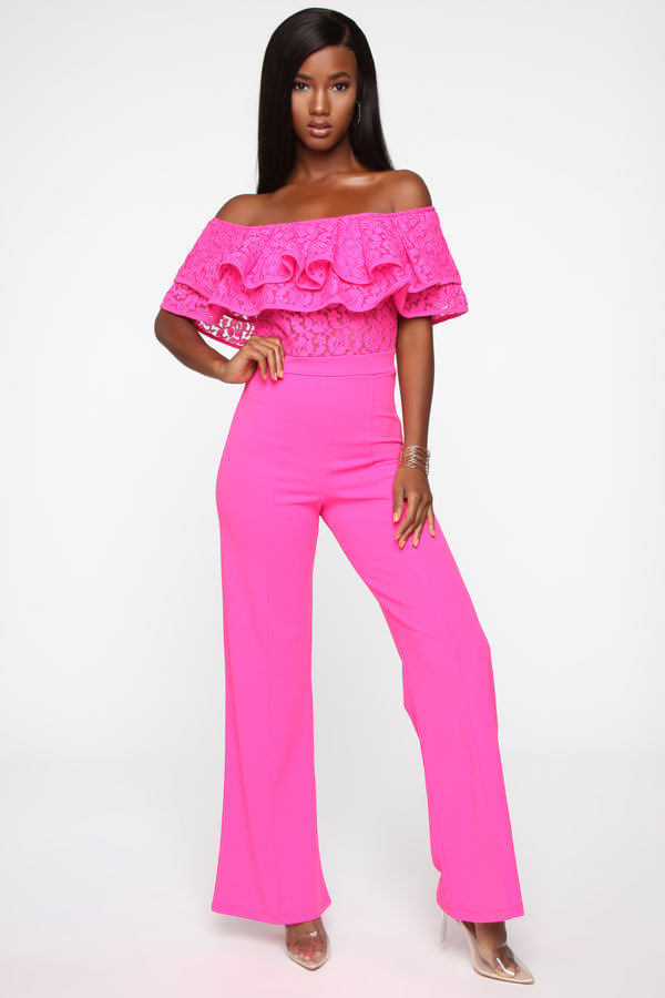 8a39e0318fb2 Layers To This Lady Wide Leg Jumpsuit - Hot Pink