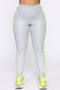 Reflect And Respect Leggings - Neon Yellow