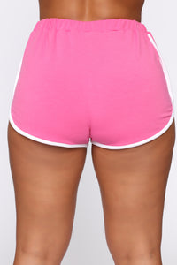 Show Up Show Out Short Set - Fuchsia/White