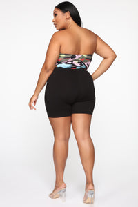 Hiding From The Truth Camo Bodysuit - Green/Multi