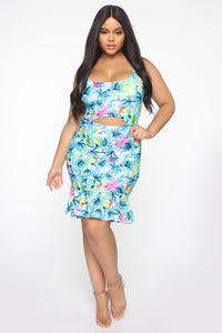 Fling Season Tropical Dress - Multi Color