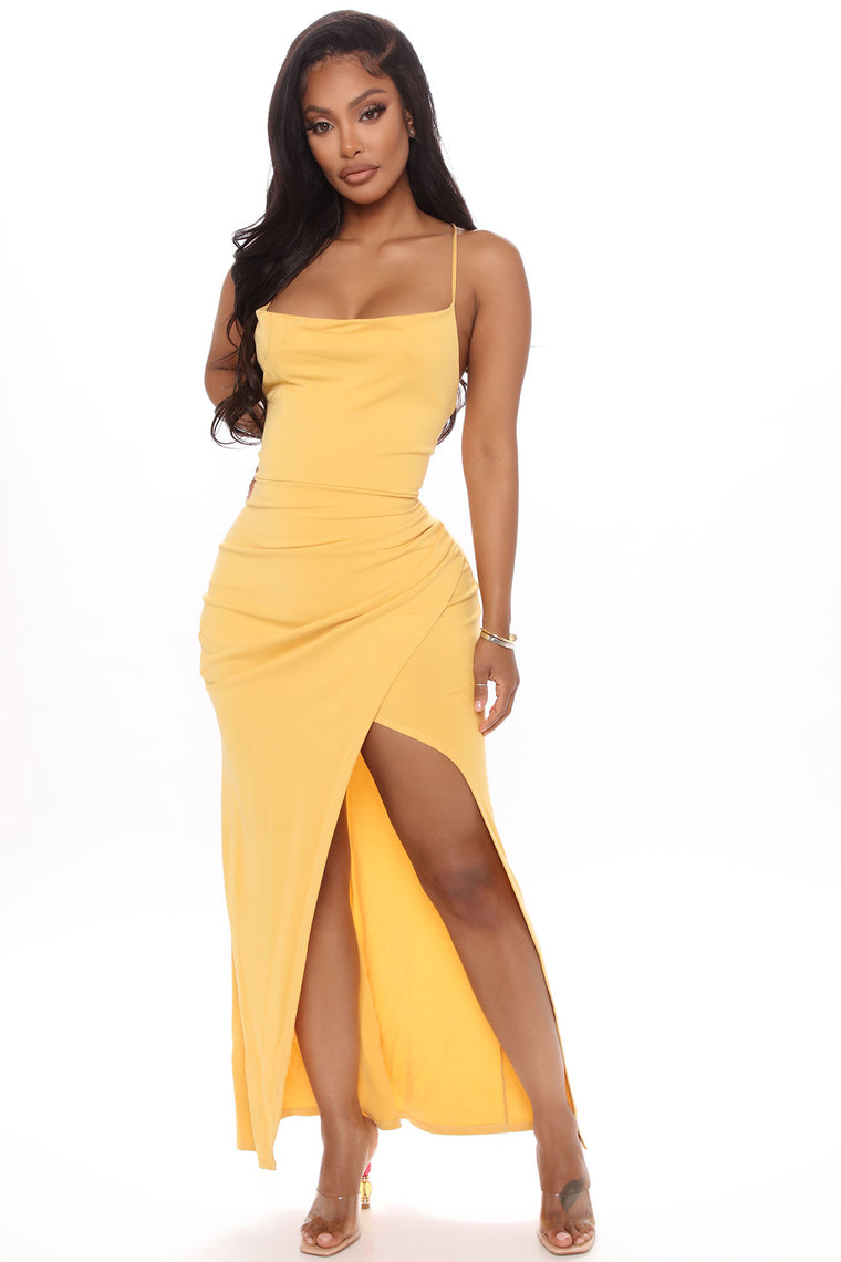 Spring Love Maxi Dress - Yellow