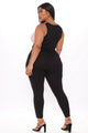 Maybe Gone Color Block Jumpsuit - Black/combo