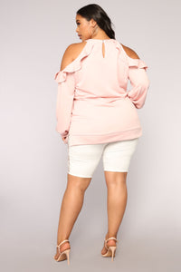 Casual Friday Ruffle Tunic - Blush