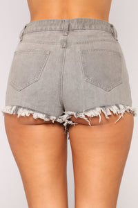 Tell Me 'Bout It Stud High Rise Shorts - Black