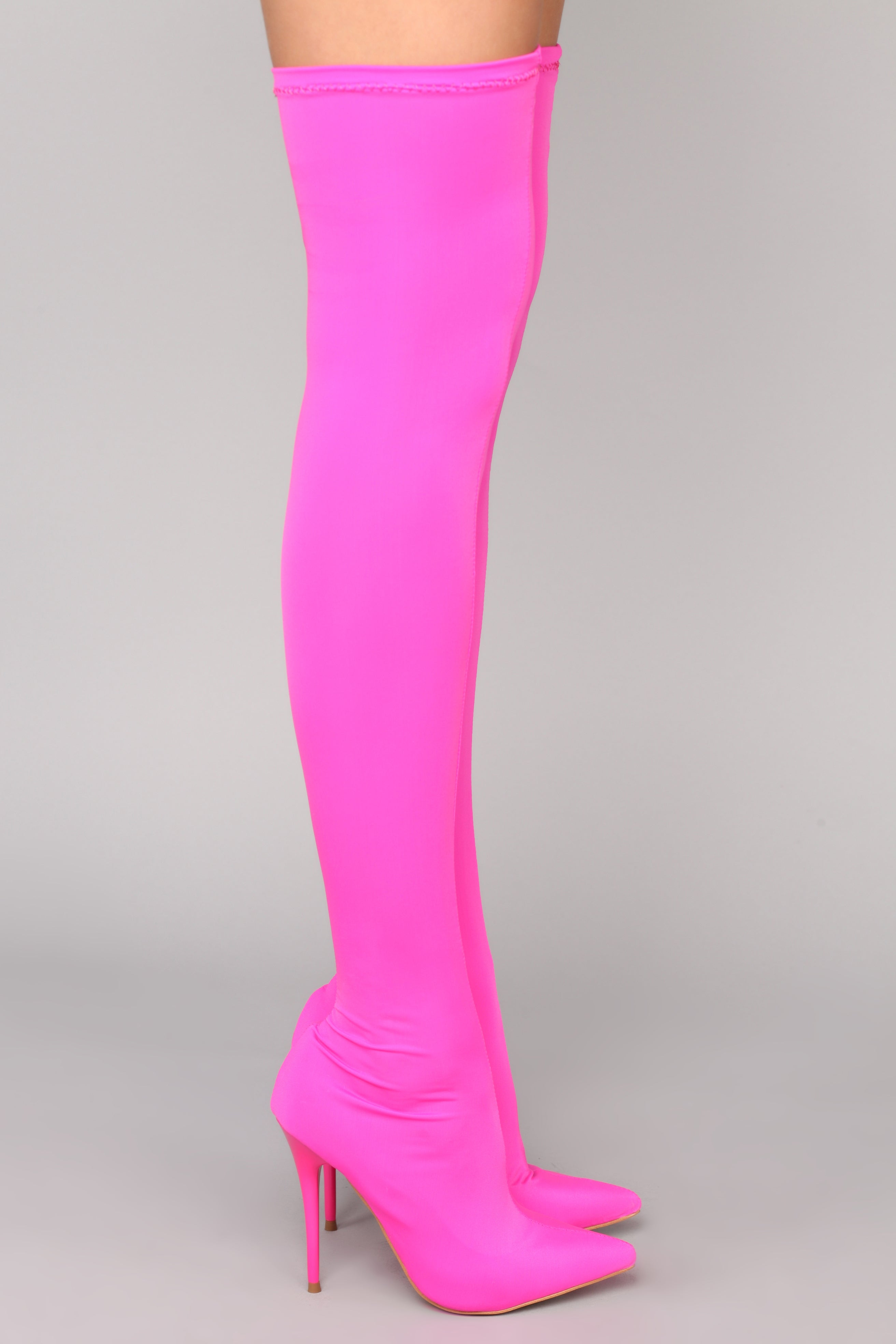 9cc8ebdc9f1 For A Little Fame Over The Knee Boot - Neon Pink