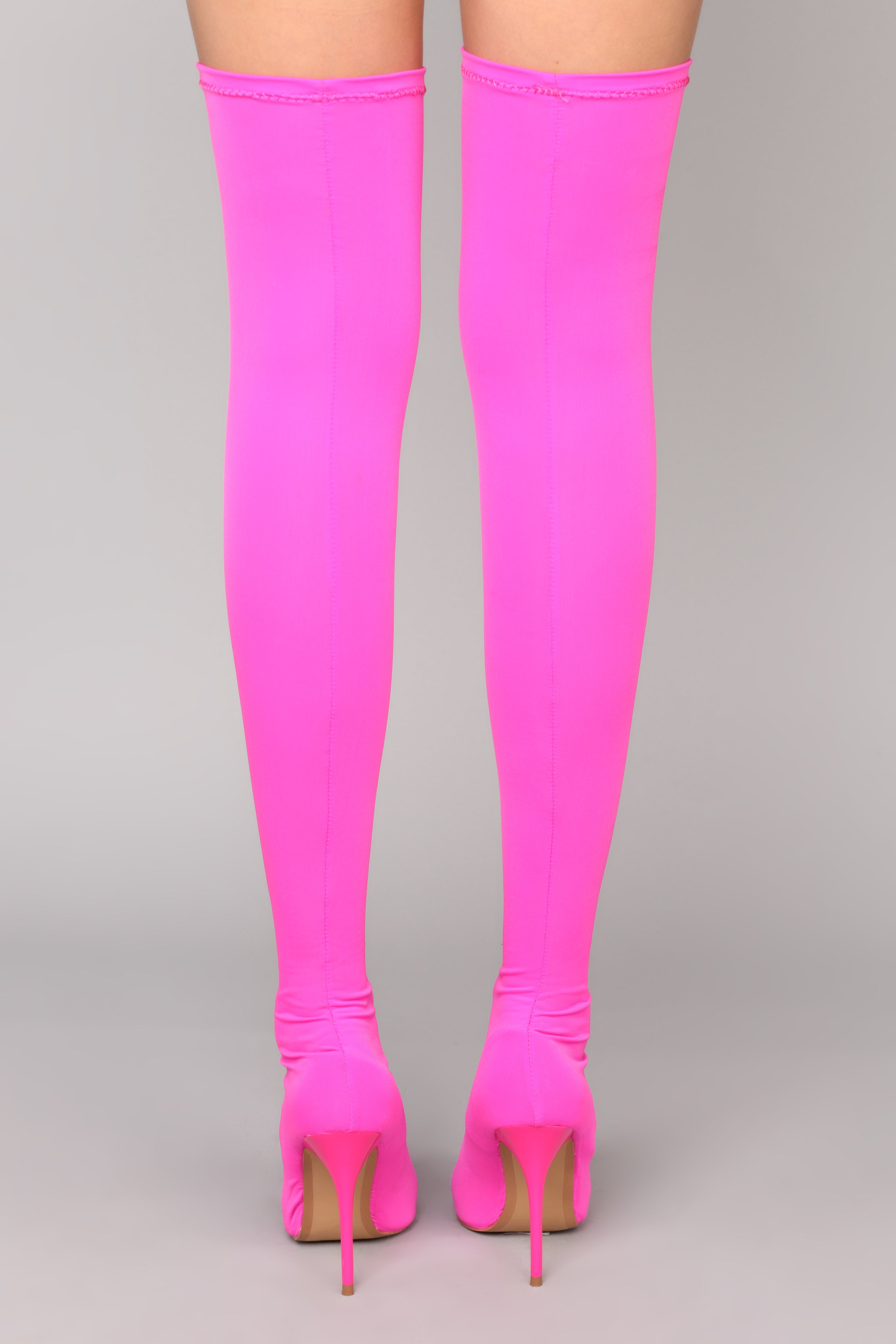 c1043a71698 For A Little Fame Over The Knee Boot - Neon Pink