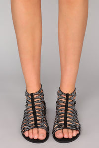 Cut Out For It Sandal - Black