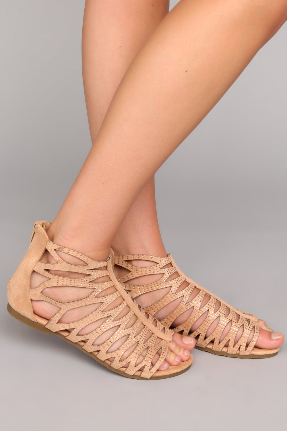 Cut Out For It Sandal - Nude