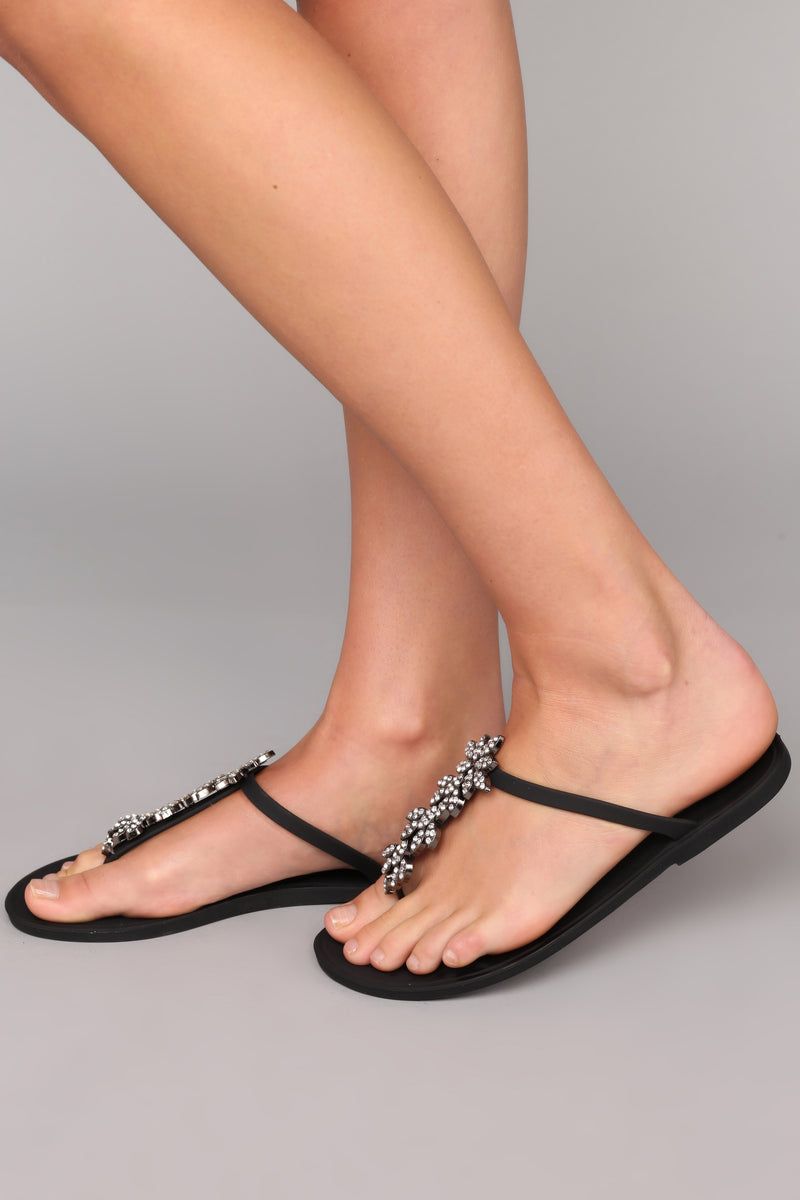 So Jelly Of Me Sandal - Black