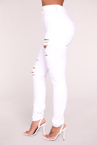 Roll Out Jeans - White
