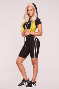 Time For Tennis Short Sleeve Set - Black