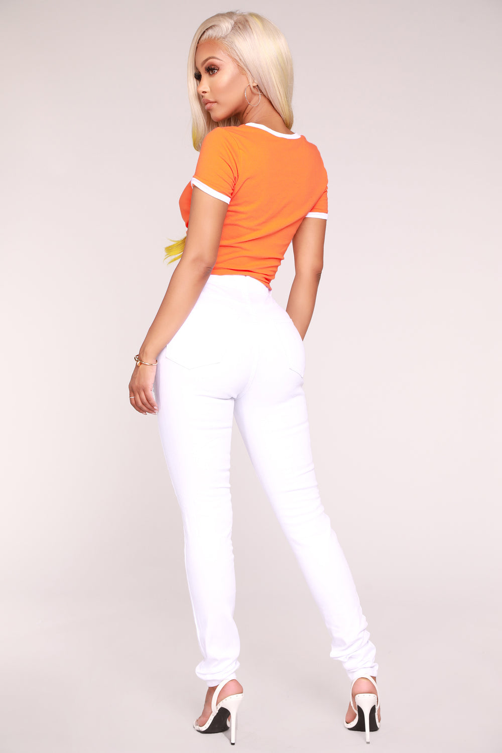 Hugs And Kisses Crop Top - Orange