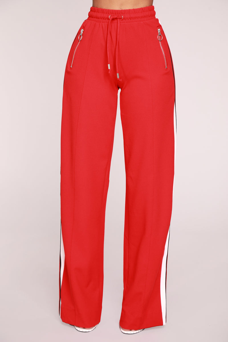 Sally Striped Pants - Red