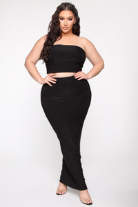 Des Skirt Set - Black