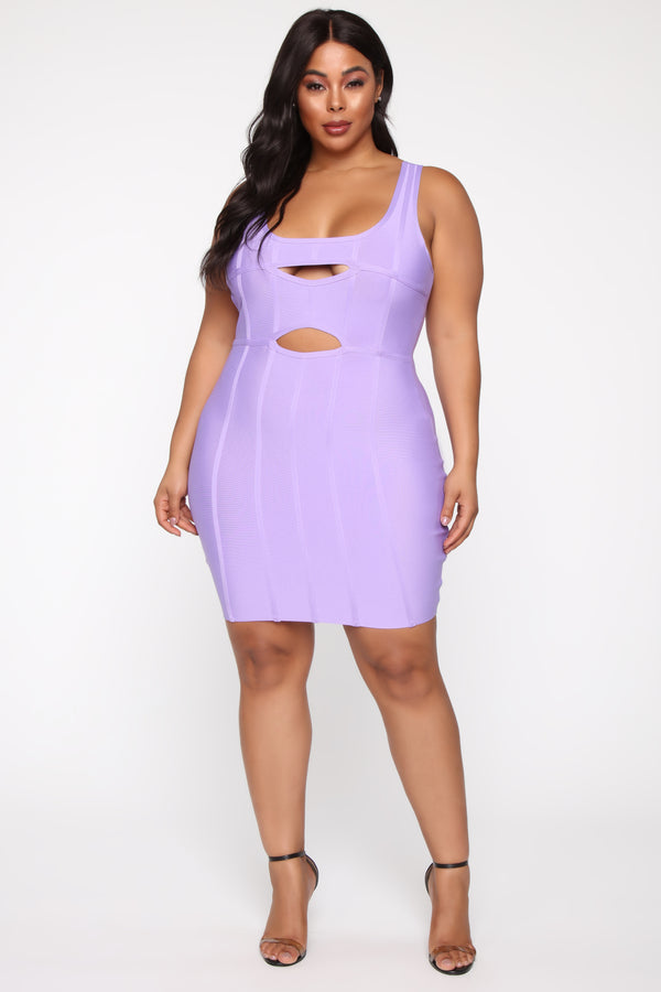 eac87285 Fit And Ready Bandage Mini Dress - Lavender