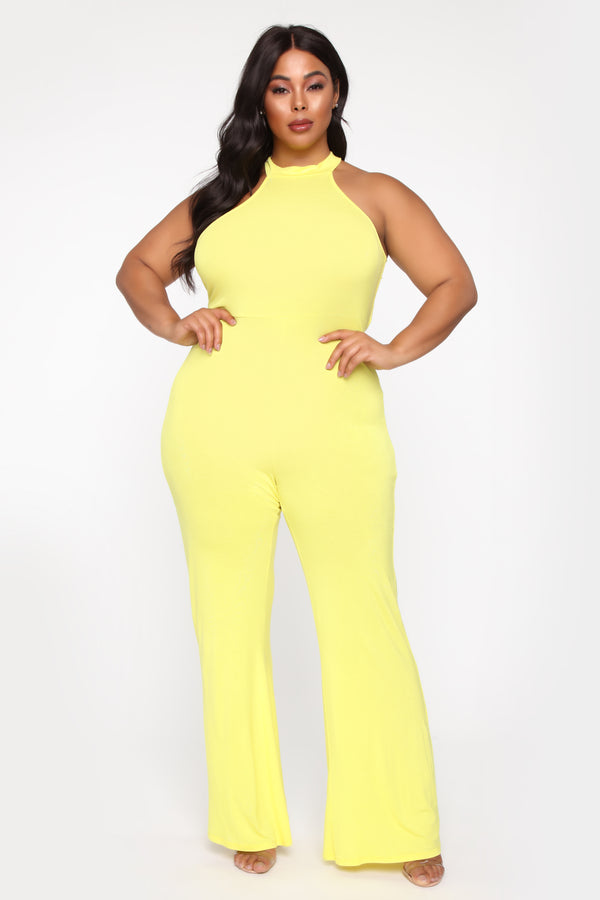 a64a7bb1332 plus-size. plus-size. Notify Me When Available. QUICK VIEW. NEW. No Give  Backs Halter Jumpsuit - Yellow