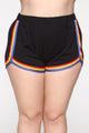 Want A Peek Dolphin Shorts - Black