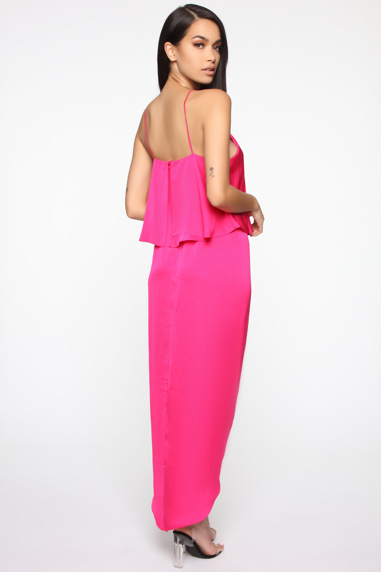 On Top Of It All Maxi Dress - Hot Pink