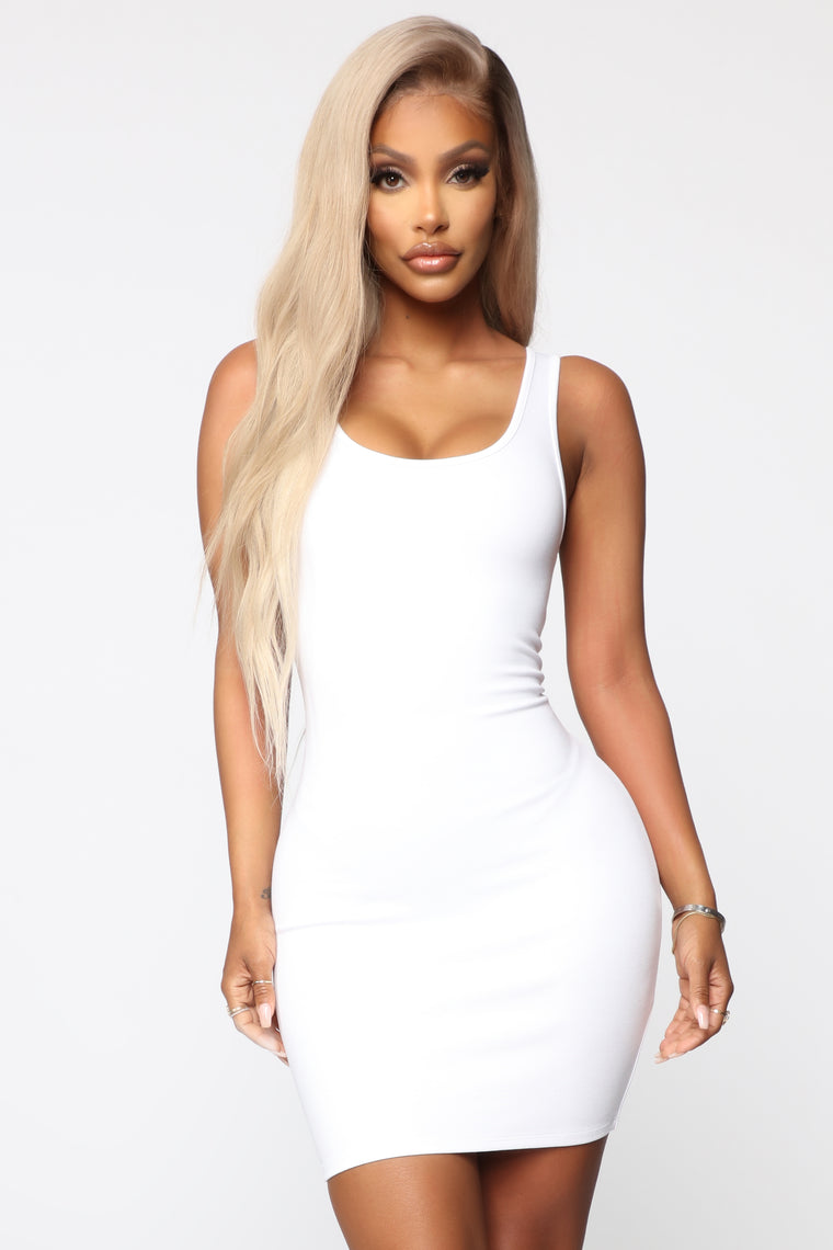 Jules Body Sculpting Mini Dress - White
