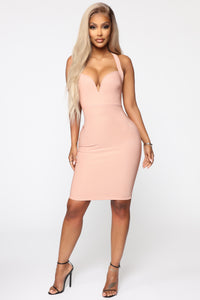 Back In The Mix Crossback Mini Dress - Mauve