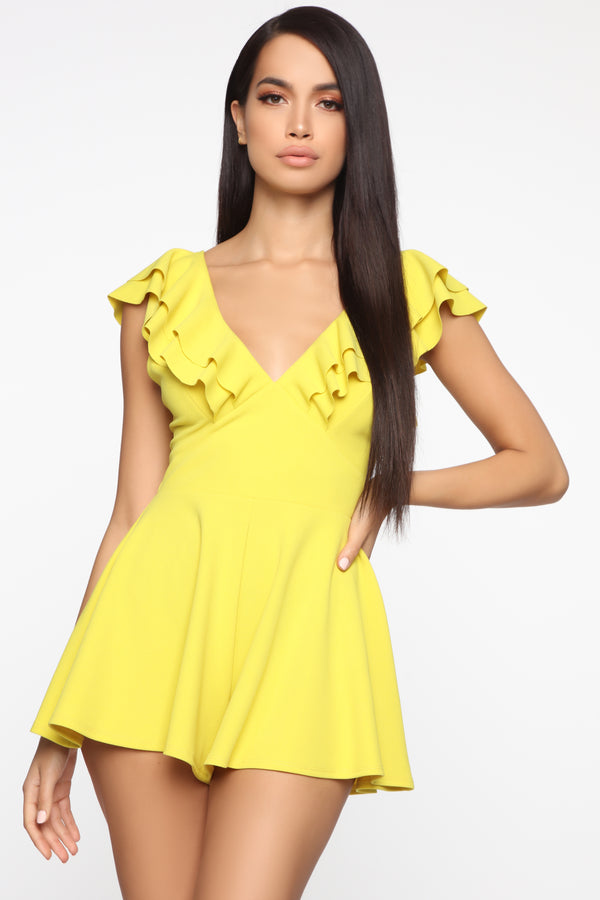 f0b2f2d968 Gimme Some Sugar Romper - Yellow