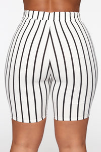 Professional Biker Shorts - White/Black