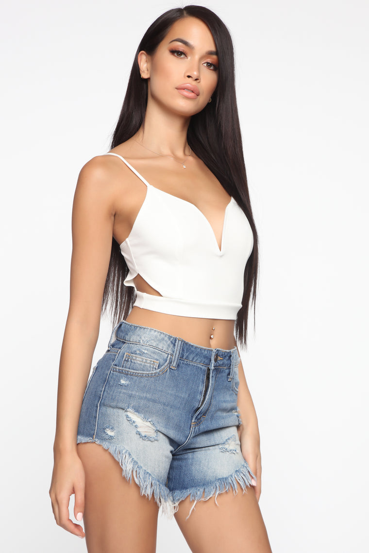 Not A Problem Crop Top - Ivory