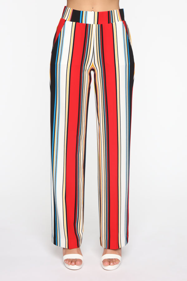 f01d5165e4b More Stripes Flare Pants - Red