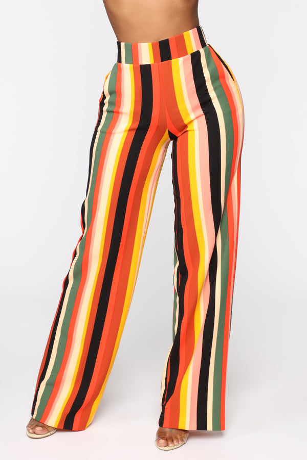 da03fff236f Earned My Stripes Flare Pants - Cognac