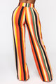 Earned My Stripes Flare Pants - Cognac