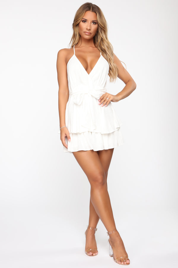 40f6b019097 See Beneath My Layers Romper - Off White