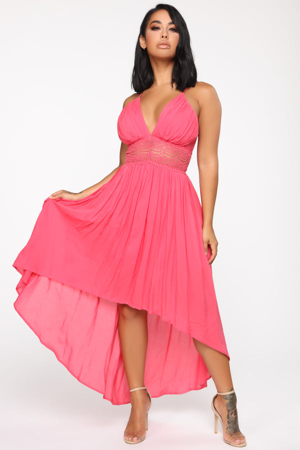 1596b1799d2 Follow Your Dreams High Low Maxi Dress - Coral