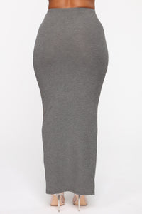 All The Way Up Maxi Skirt - Charcoal