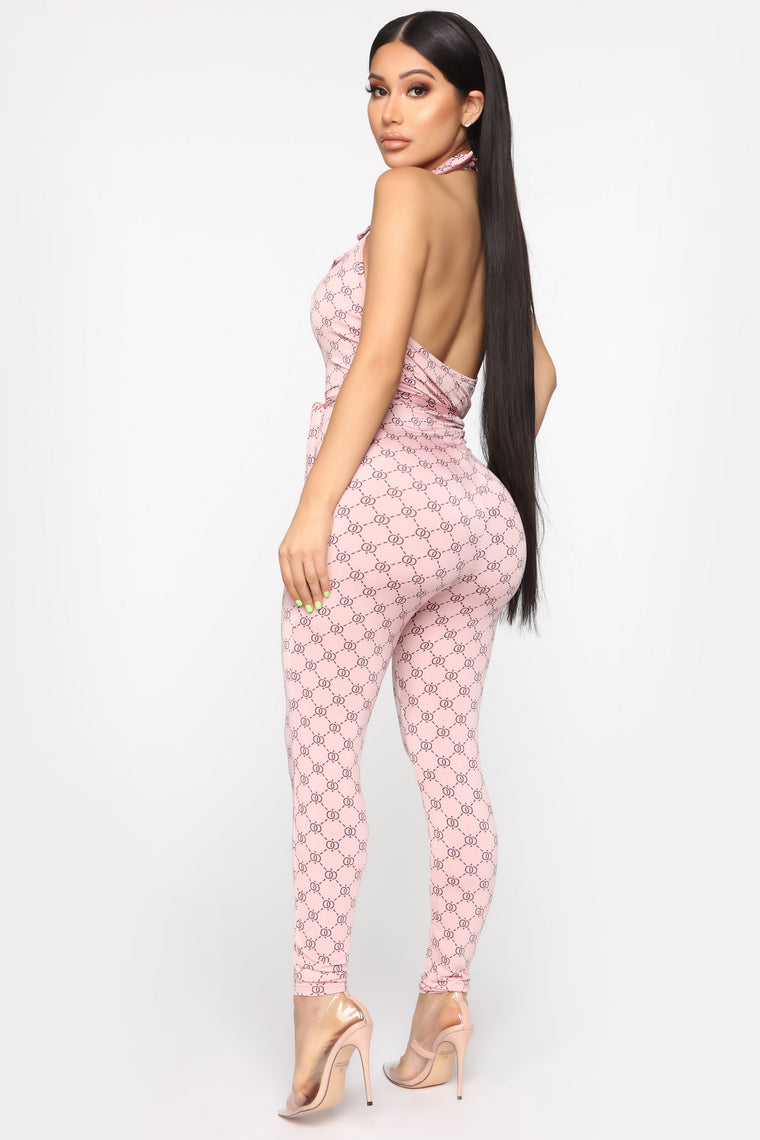 New Lovin' Printed Jumpsuit - Pink/combo
