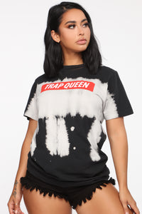 Queen Of The Trap Top - Black/Combo Angle 1