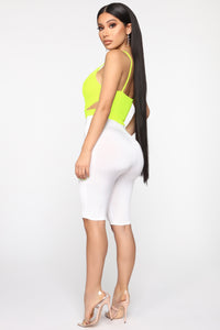 Not A Problem Crop Top - Neon Yellow