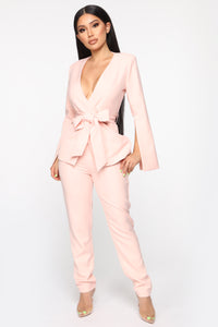 Sitting Pretty Suit Set - Mauve Angle 1