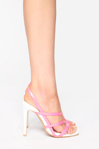 Just My Type Heeled Sandals - Neon Pink