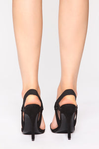 Brave And Beautiful Heeled Sandals - Black/Black