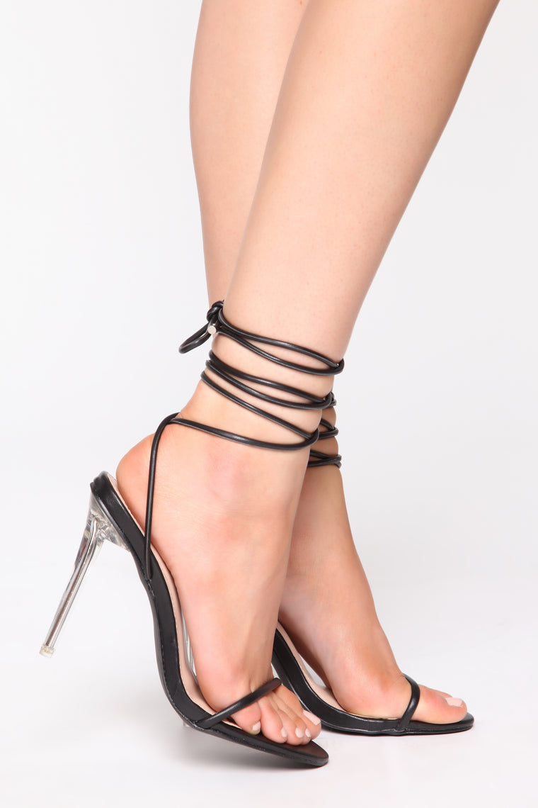 Admiration Heeled Sandals - Black