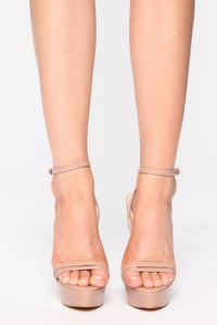 Unreachable Heeled Sandals - Nude Angle 2