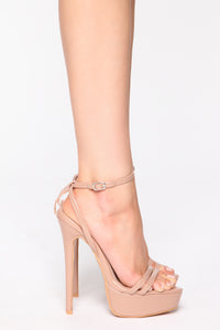 Unreachable Heeled Sandals - Nude Angle 3